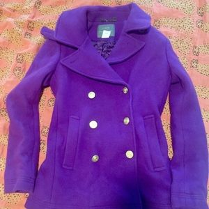 J Crew purple peacoat